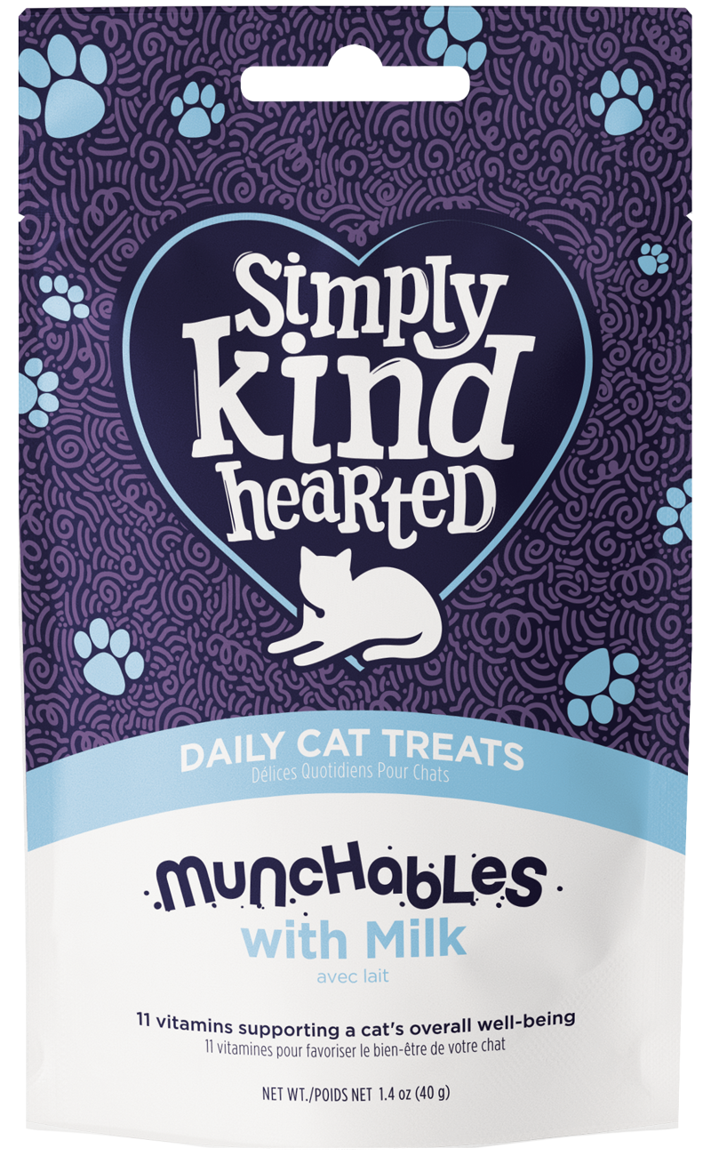 Simply Kind Hearted Cat Munchables With Milk, 1.4-oz