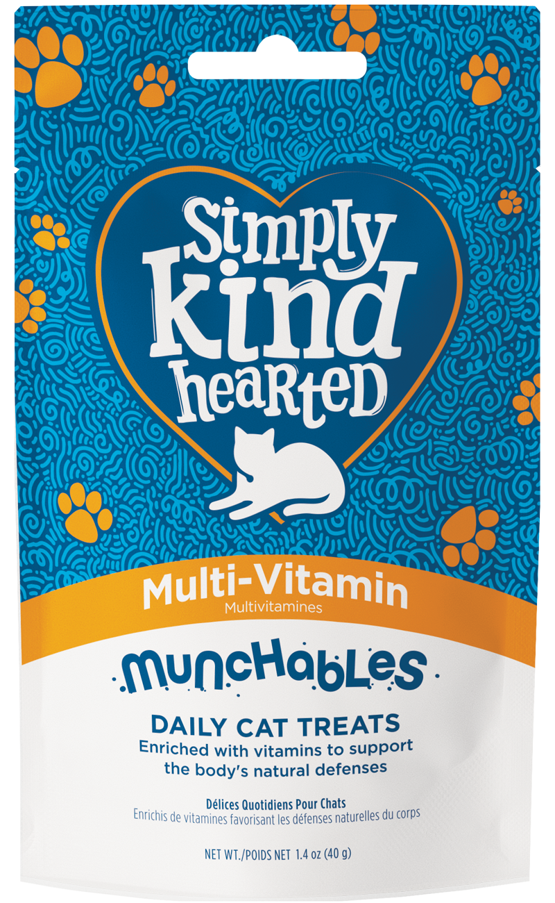 Simply Kind Hearted Cat Munchables, Multi-Vitamin, 1.4-oz