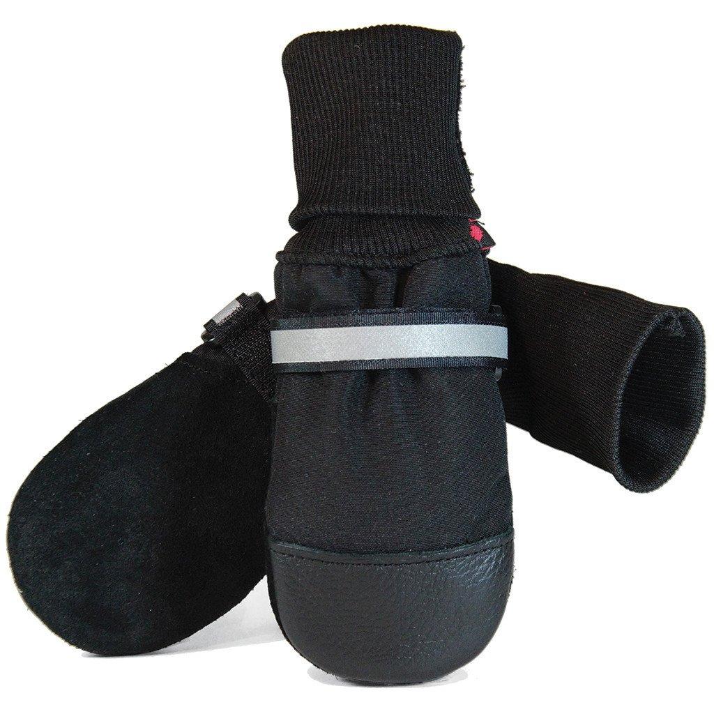 Muttluks Original Fleece-Lined Dog Boots, Black, Large