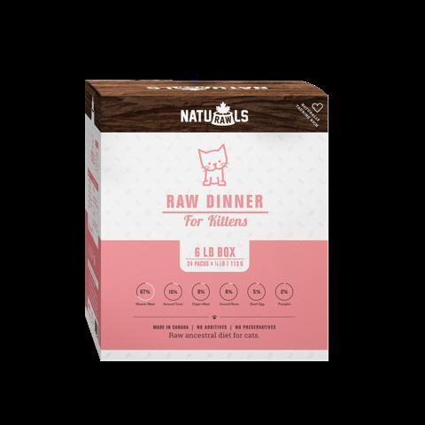 Naturawls Raw Kitten Dinner, 133-g, 24-pack Image