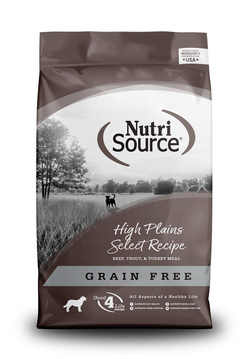 NutriSource Grain Free High Plains Dry Dog Food, 15-lb