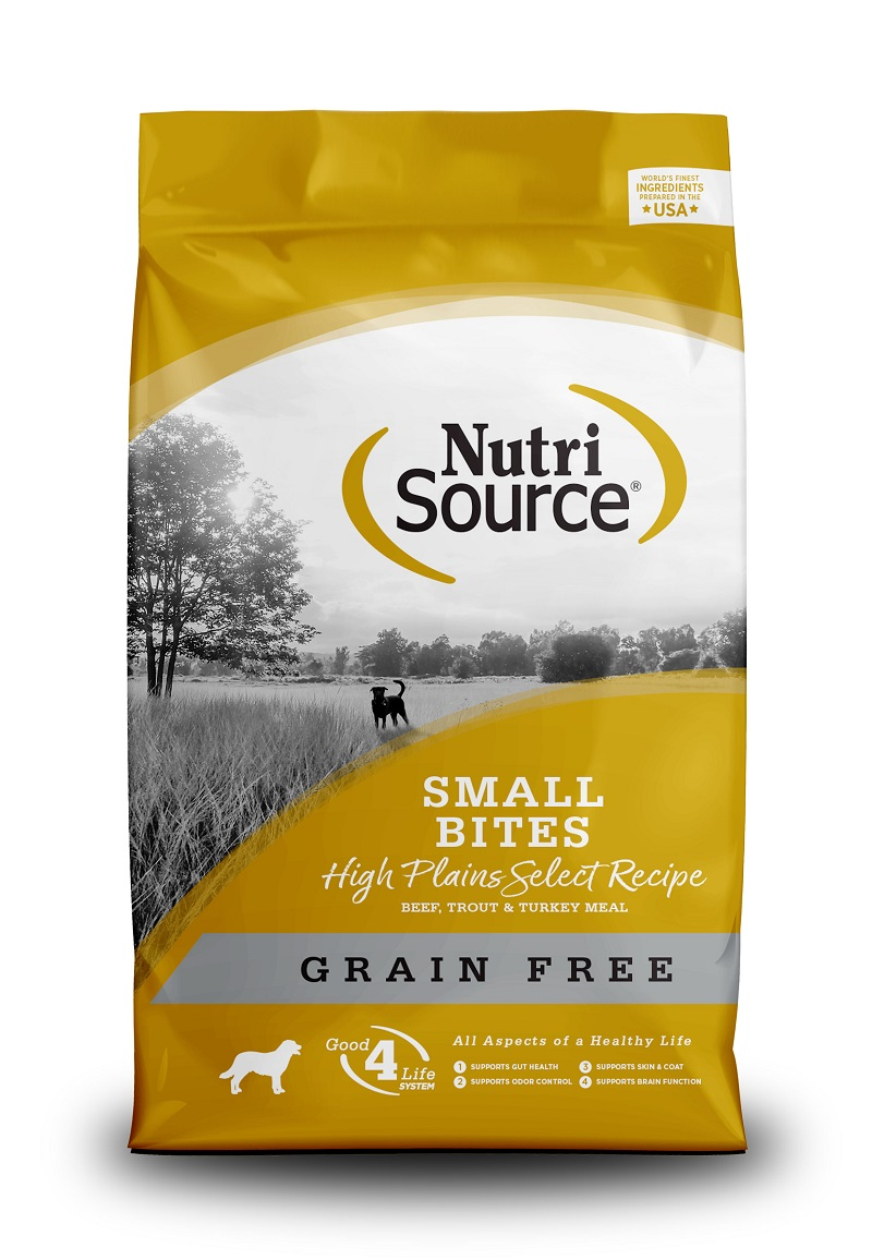 NutriSource Grain Free High Plains Select Small Bites Dry Dog Food, 15-lb