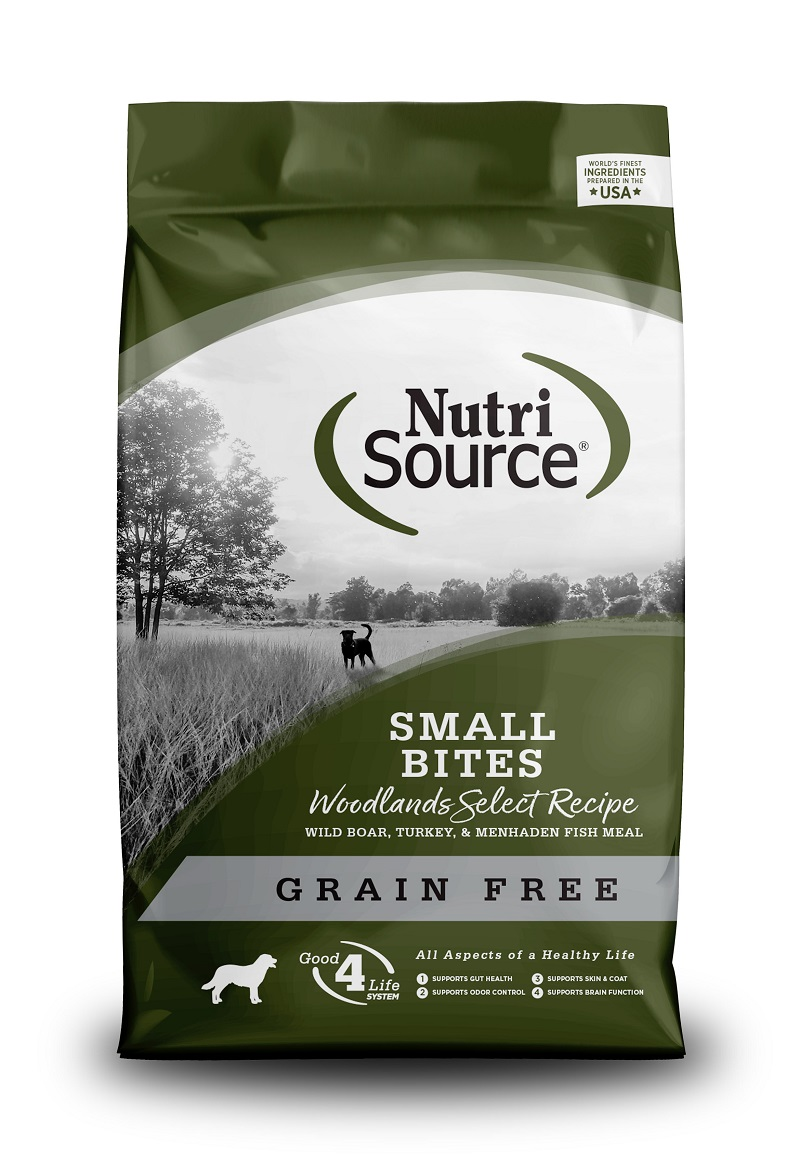 NutriSource Grain Free Woodlands Select Small Bites Dry Dog Food, 5-lb