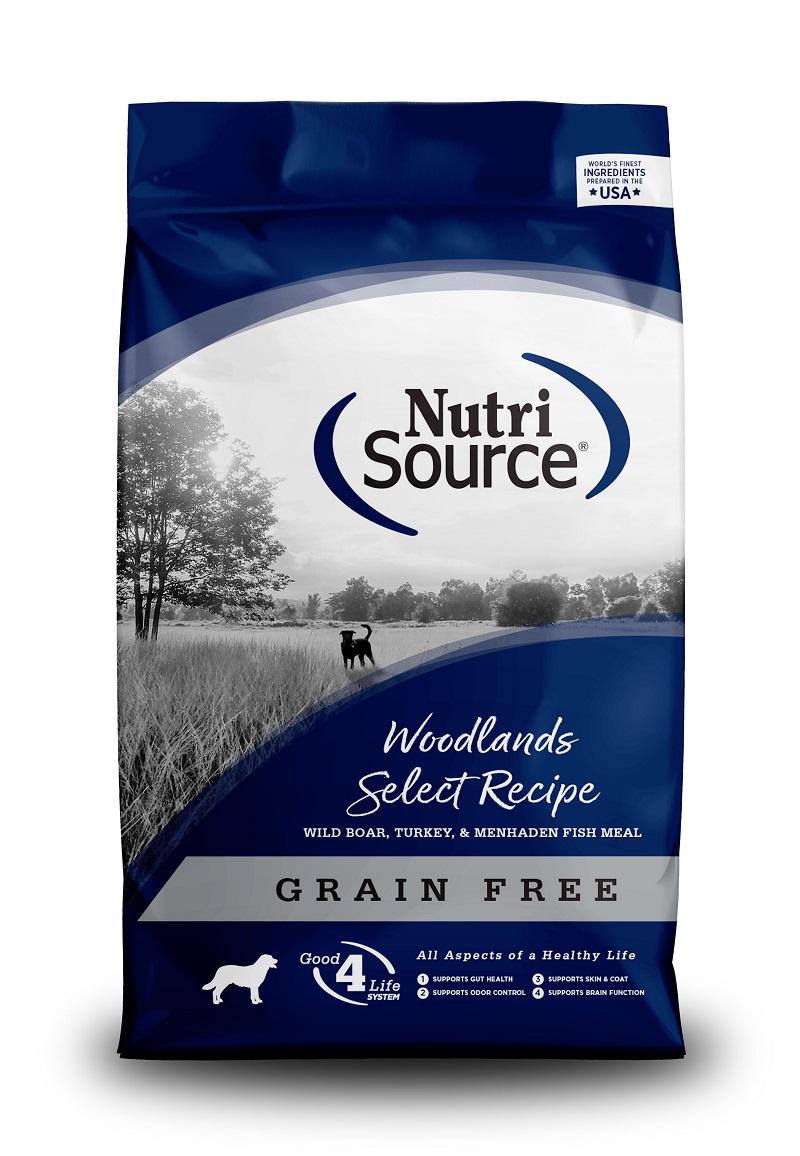 NutriSource Grain Free Woodlands Dry Dog Food, 5-lb