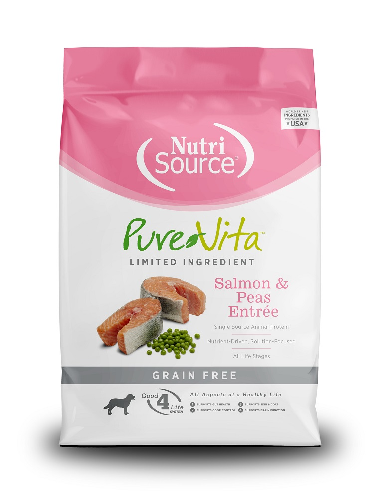 PureVita Salmon & Peas Entrée Grain Free Formula Dry Dog Food, 25-lb