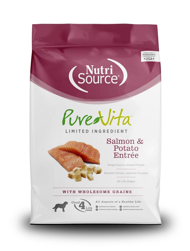 PureVita Salmon & Potato Formula Dry Dog Food, 5-lb