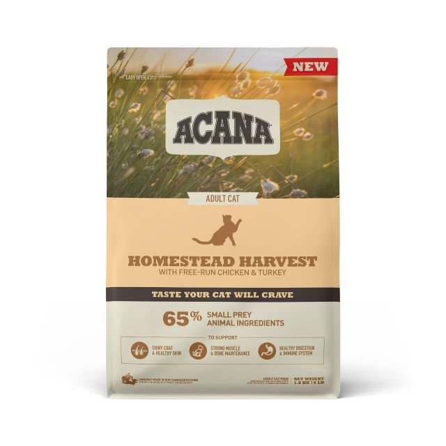 ACANA Homestead Harvest Dry Cat Food, 1.8-kg