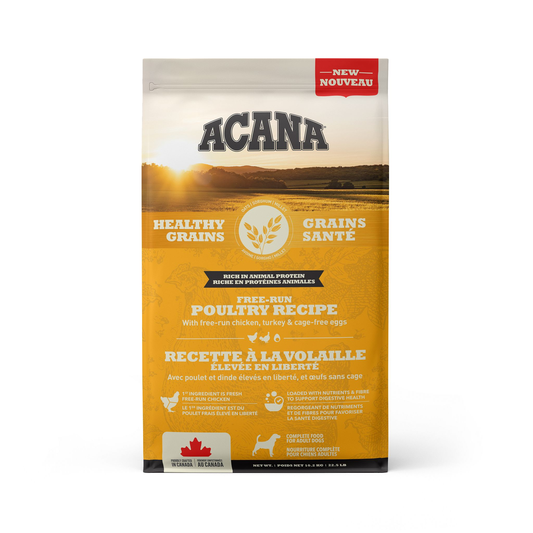 ACANA Healthy Grains Free-Run Poultry Recipe, 10.2-kg