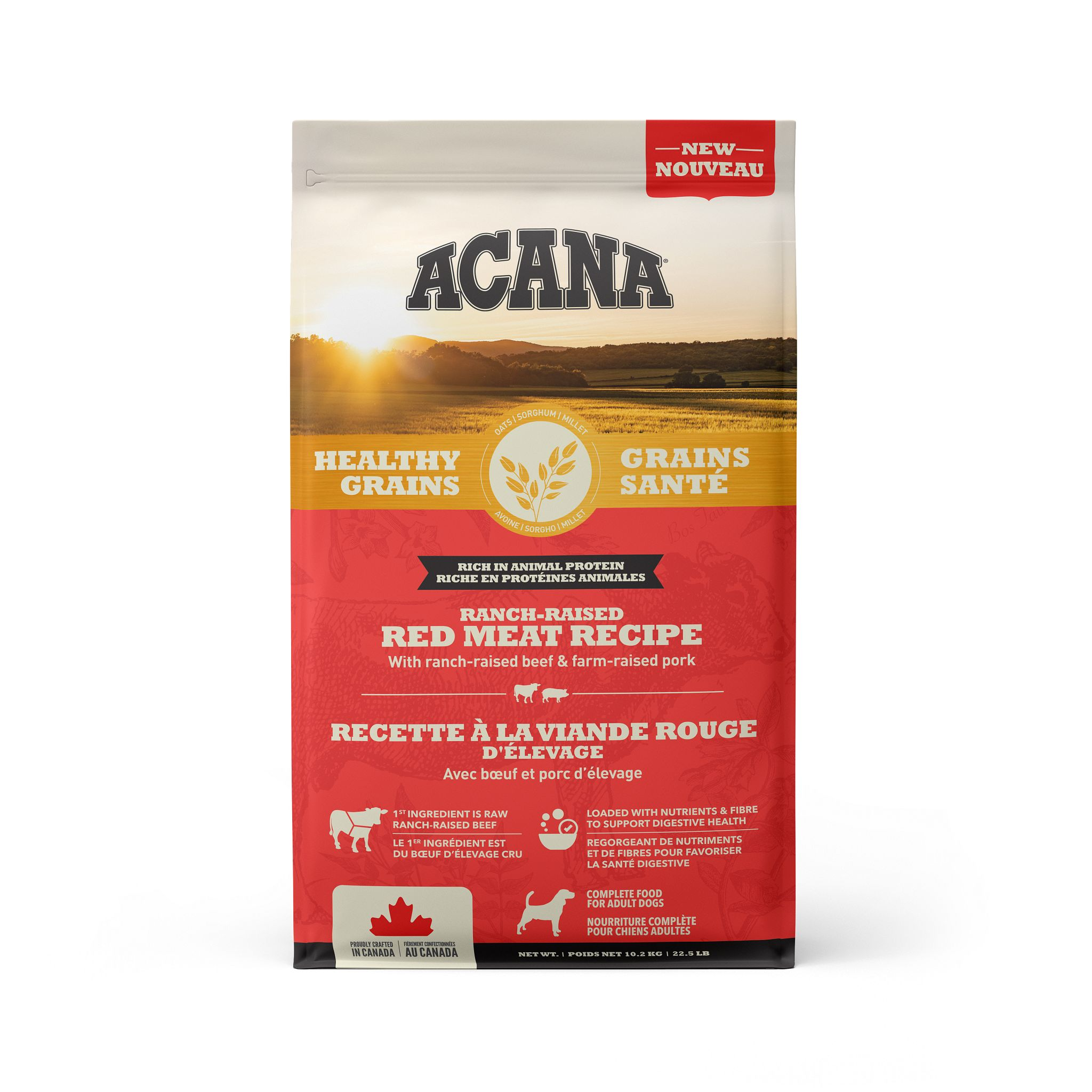 ACANA Healthy Grains Ranch-Raised Red Meat Recipe, 10.2-kg