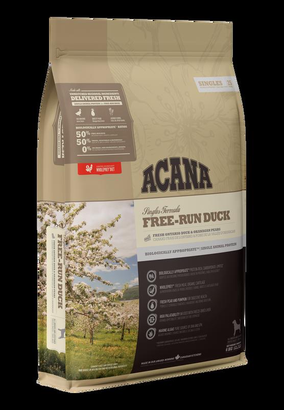 Acana Singles Free-Run Duck Dry Dog Food, 2-kg