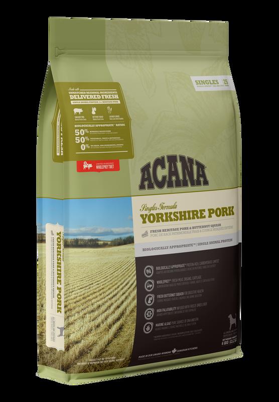 Acana Singles Yorkshire Pork Dry Dog Food, 2-kg