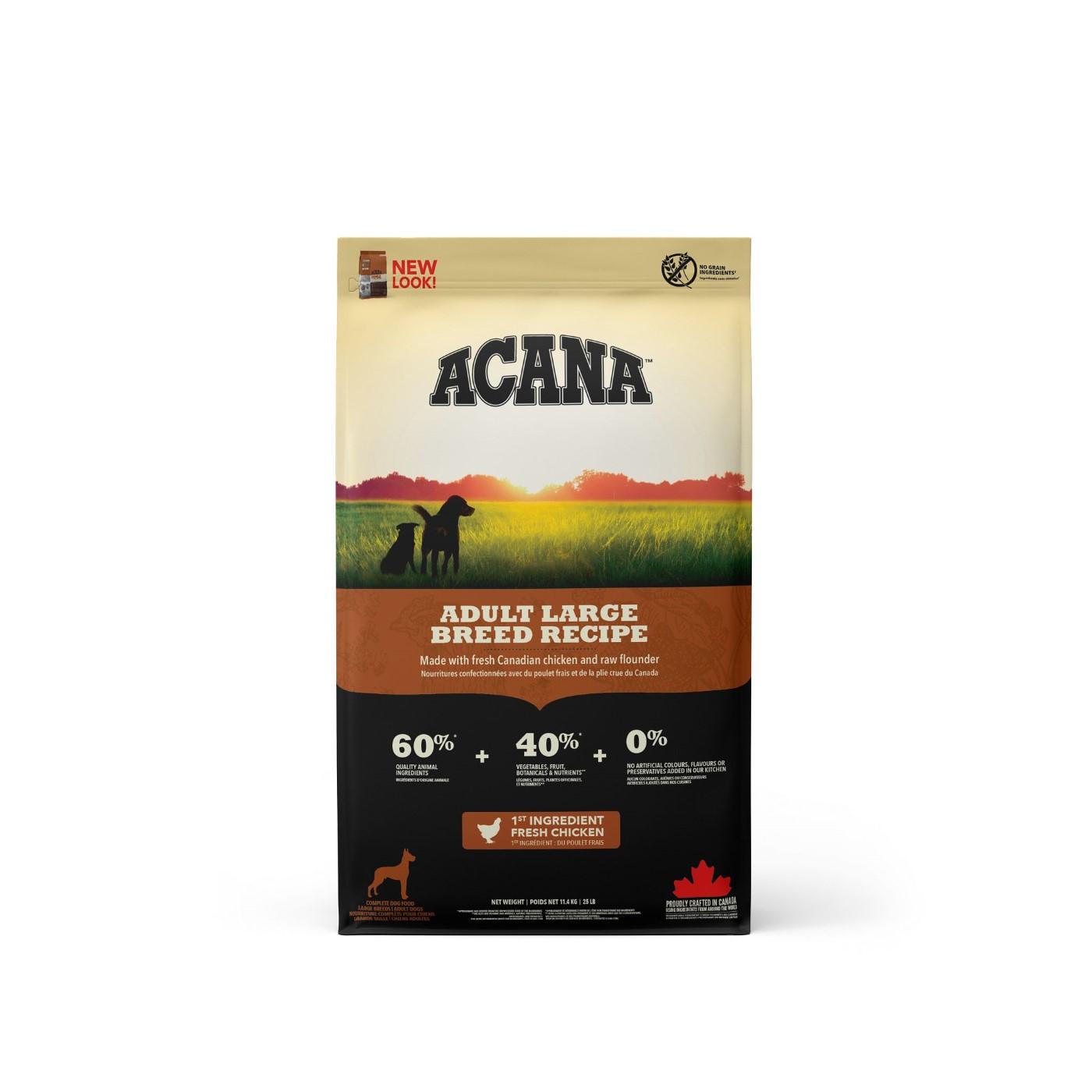 Acana Adult Large Breed Dry Dog Food, 11.4-kg Size: 11.4-kg