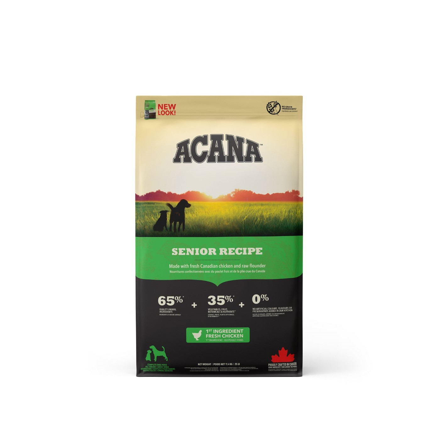 Acana Senior Dry Dog Food, 11.4-kg