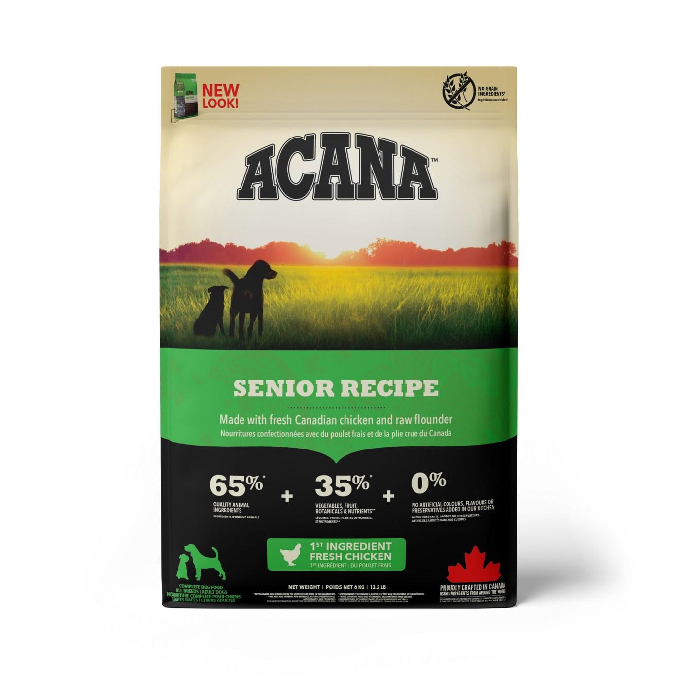 Acana Senior Dry Dog Food, 6-kg