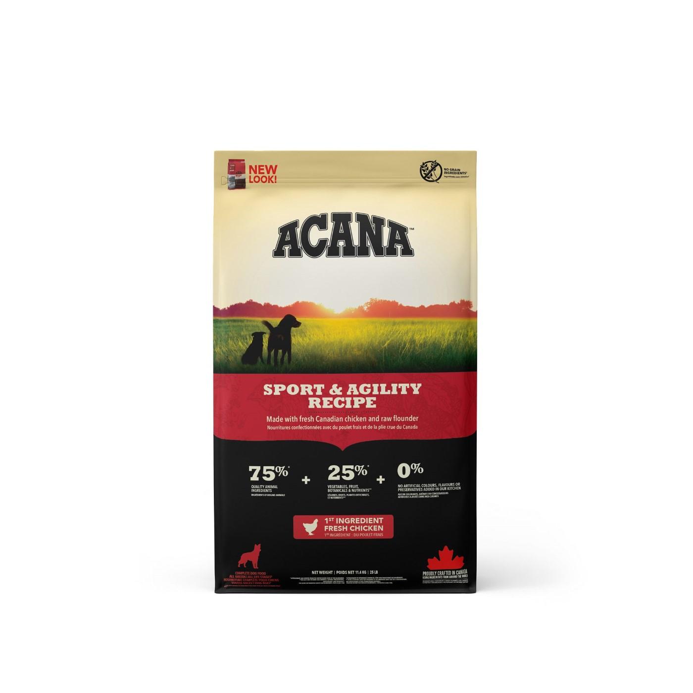 Acana Sport & Agility Dry Dog Food, 11.4-kg