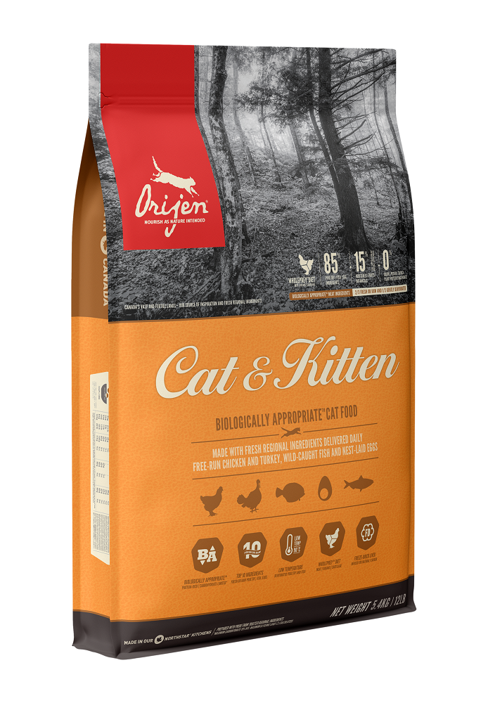 Orijen Cat & Kitten Dry Cat Food, 5.4-kg Size: 5.4-kg