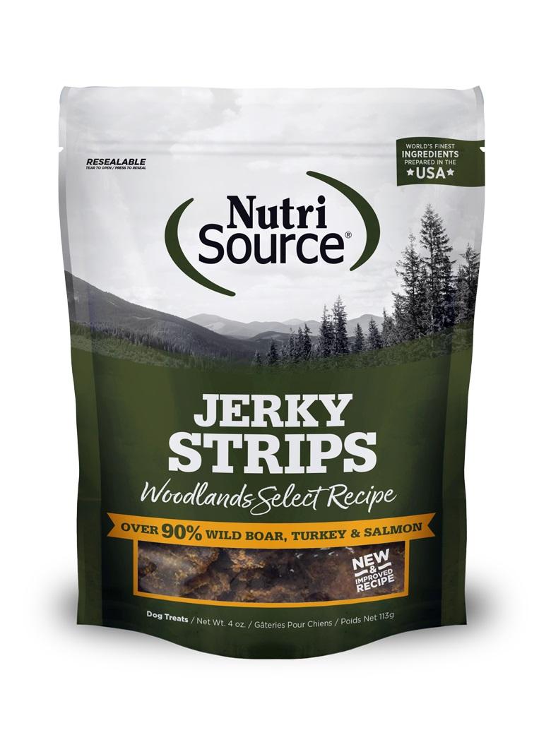 NutriSource Jerky Treats Woodlands Select Grain-Free Dog Treats, 4-oz