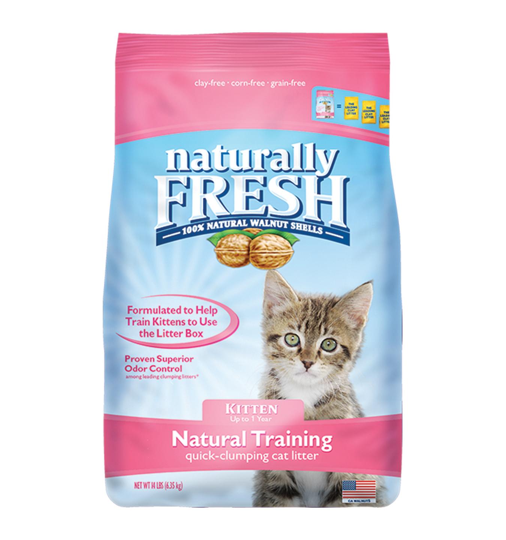 Naturally Fresh Walnut-Based Natural Training Kitten Quick-Clumping Cat Litter, 14-lb bag