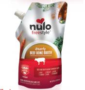 Nulo Freestyle Bone Broth Grass-Fed Beef Dog & Cat Food Topper, 20-oz