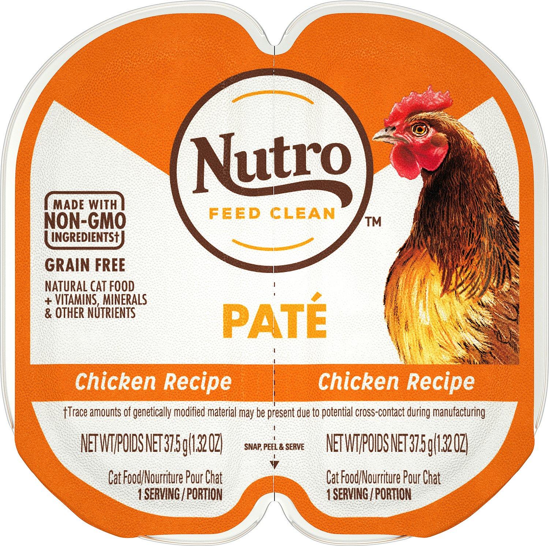 Nutro Perfect Portions Grain-Free Chicken Paté Recipe Cat Food Trays, 2.6-oz