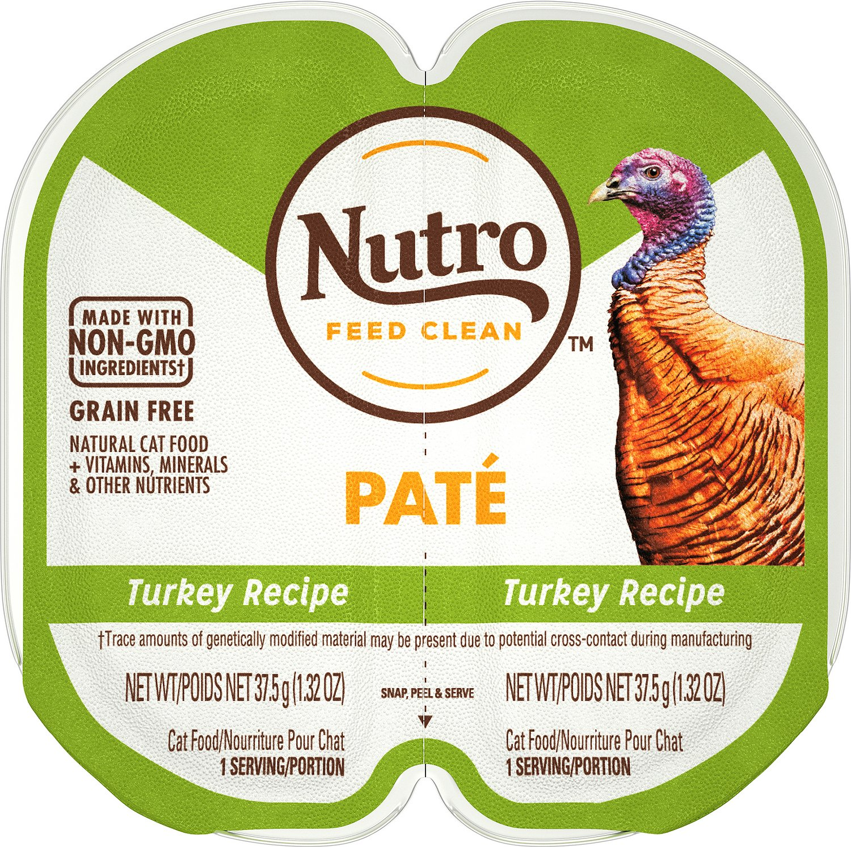 Nutro Perfect Portions Grain-Free Turkey Paté Recipe Cat Food Trays Image