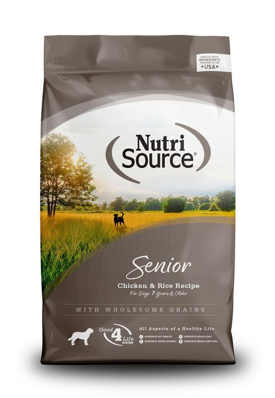 NutriSource Senior Chicken and Rice Dry Dog Food Image