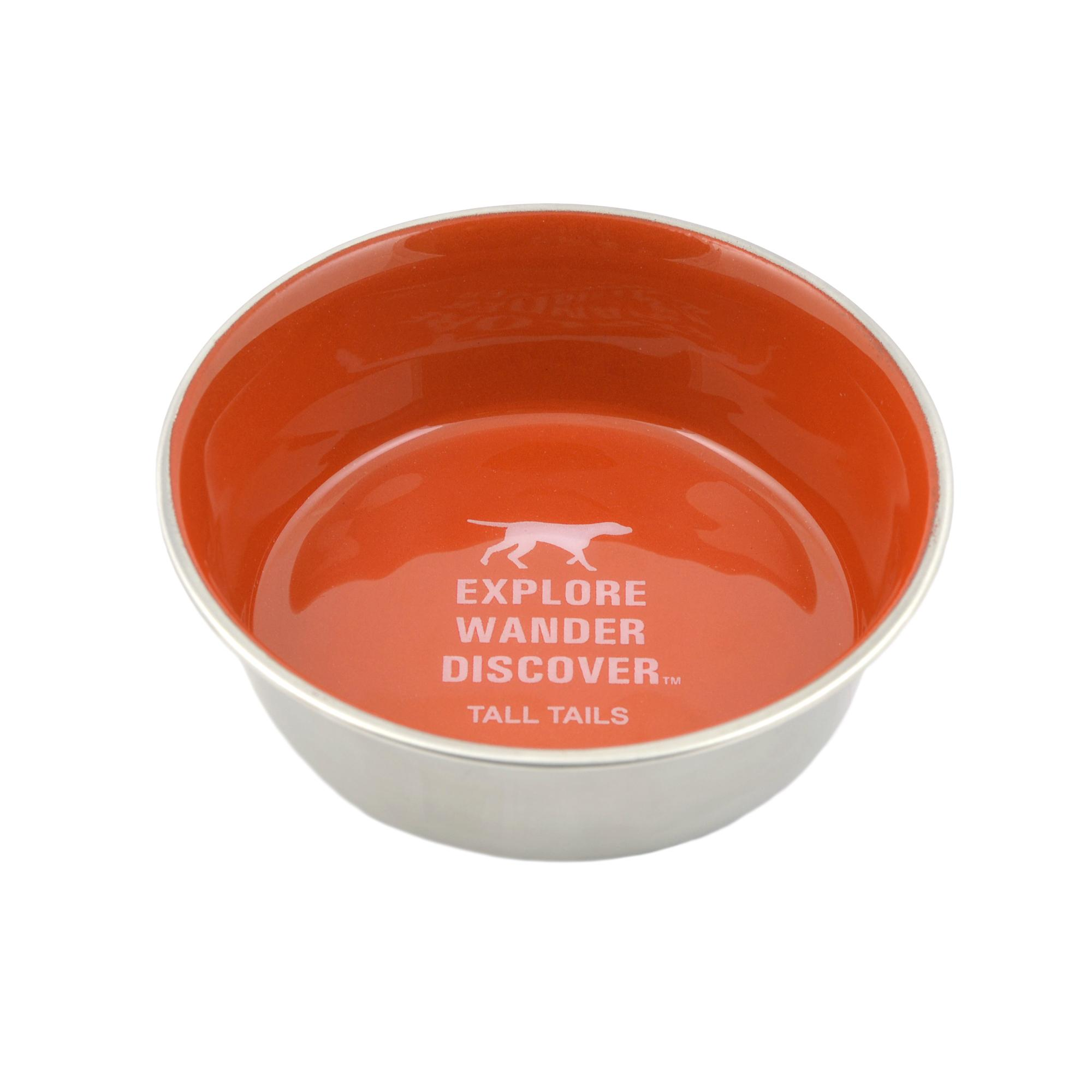 Tall Tails Stainless Steel Dog Bowl, Orange, 3-cups