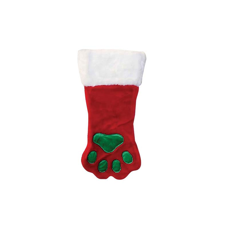 Outward Hound Stocking Paw Dog Toy, Red, Small
