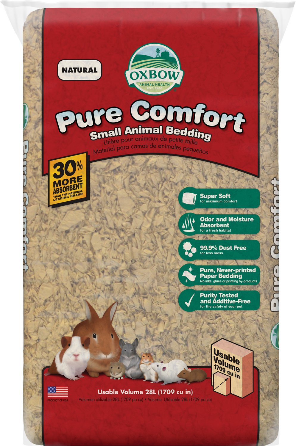 Oxbow Pure Comfort Small Animal Bedding, Natural, 28-L