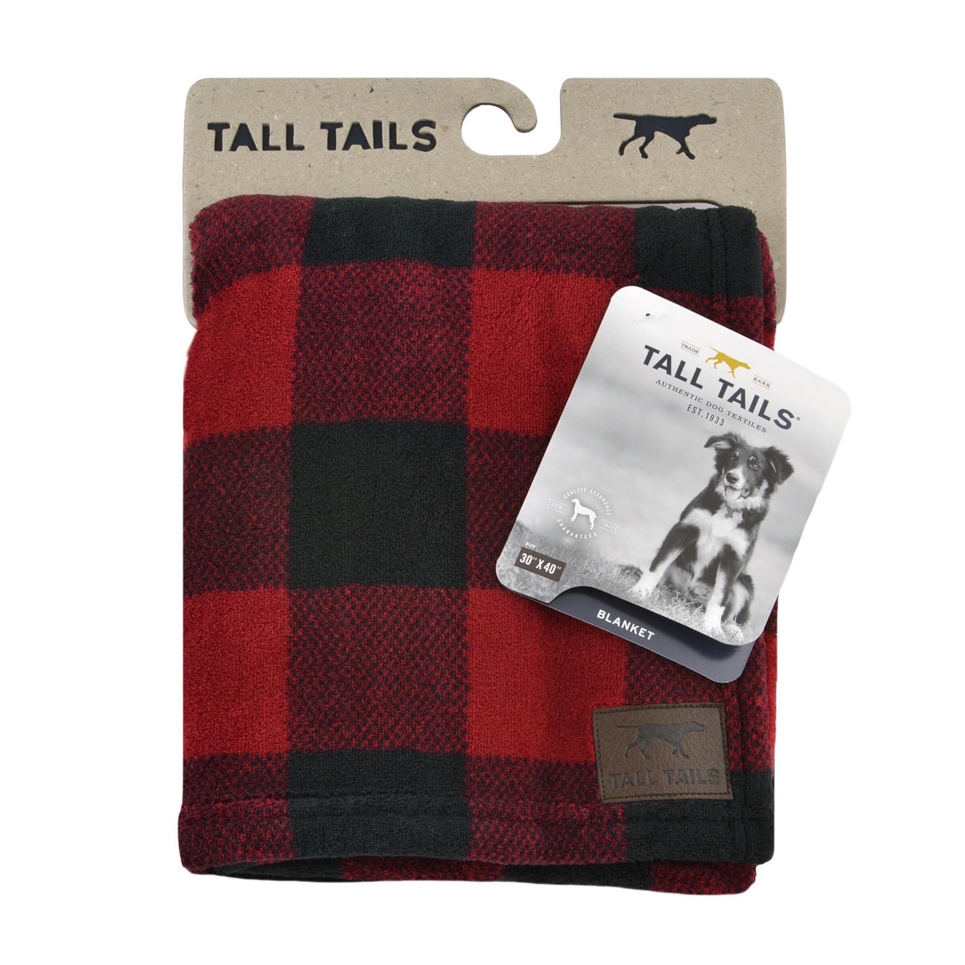 Tall Tails Dog Blanket, Hunter's Plaid, 30 x 40-in