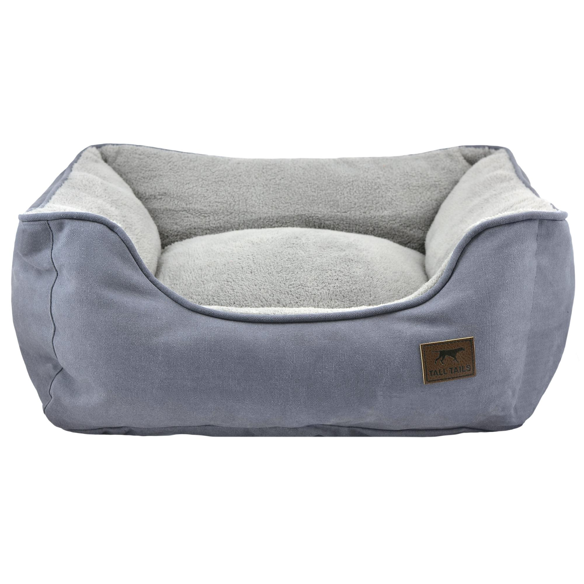 Tall Tails Dream Chaser Bolster Dog Bed, Charcoal, Large