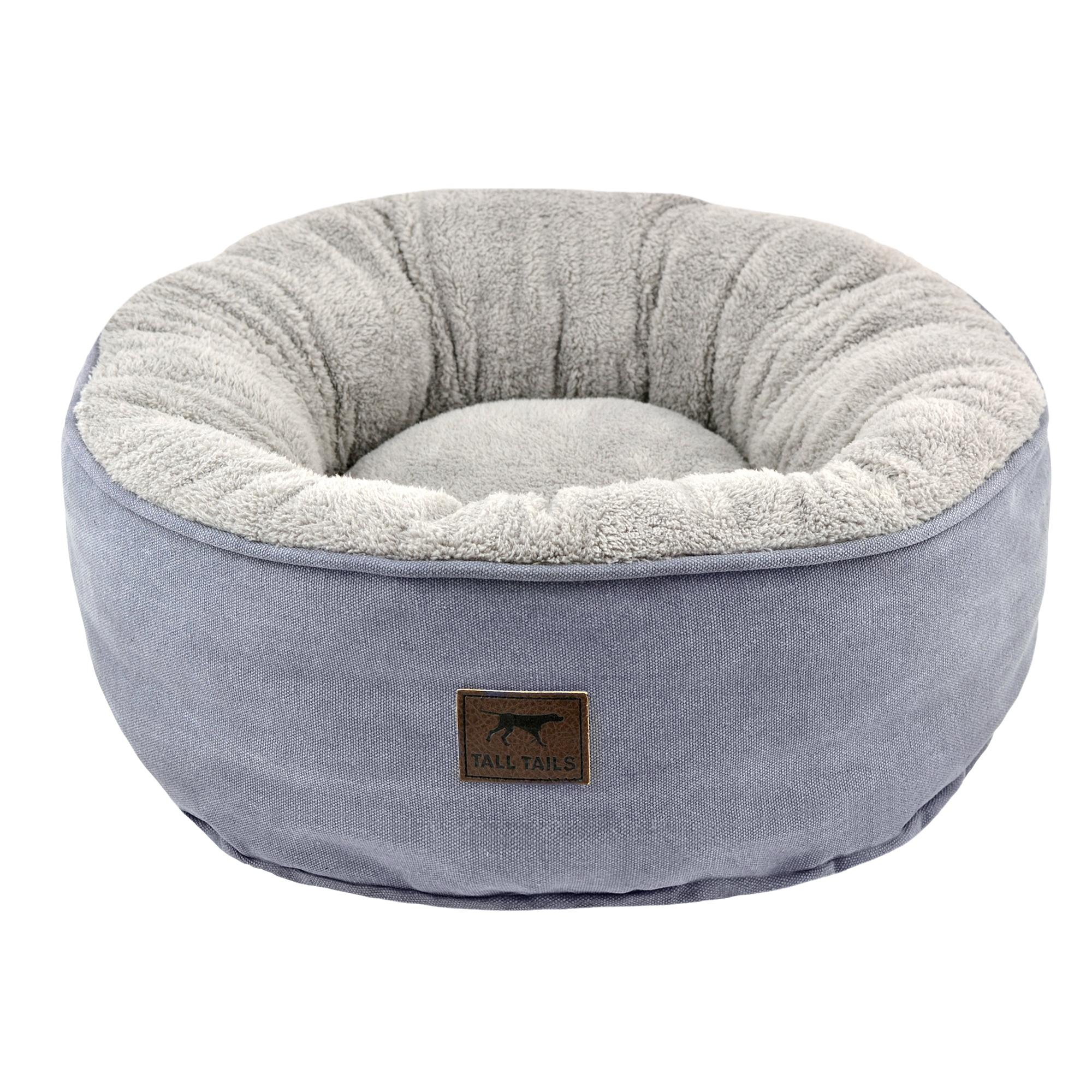 Tall Tails Dream Chaser Donut Dog Bed, Charcoal