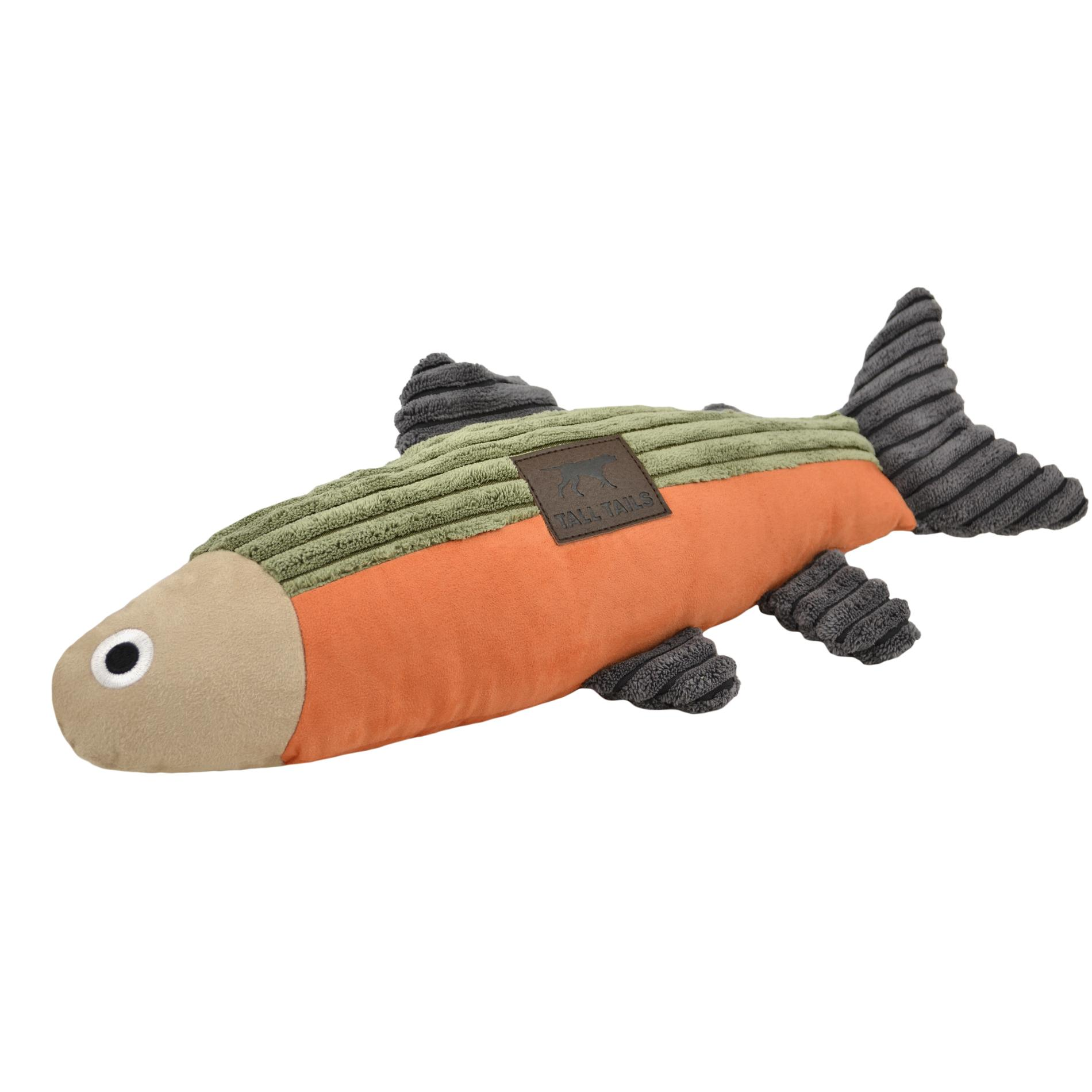 Tall Tails Squeaker Fish Dog Toy, 12-in
