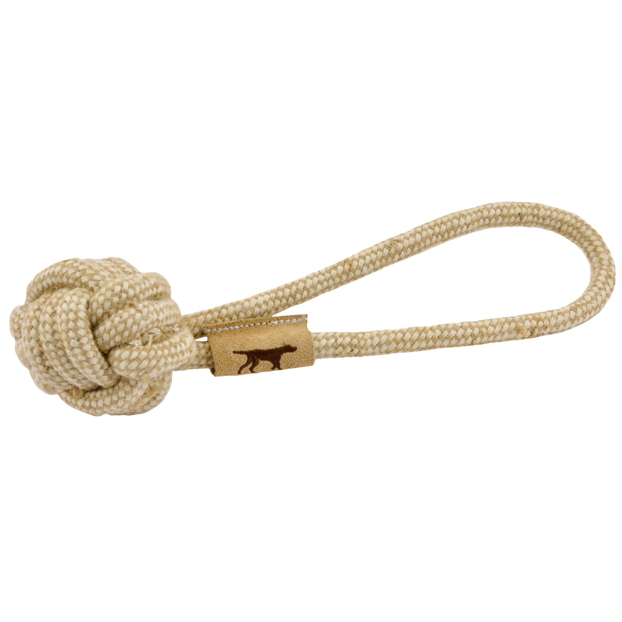 Tall Tails Natural Cotton & Jute Rope Ball Dog Toy, 10-in