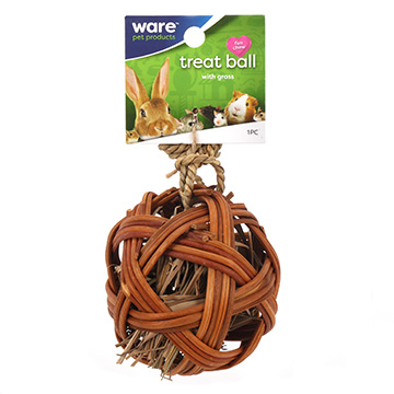 Ware Edible Treat Ball Willow Toy and Treat Dispenser, 4-in