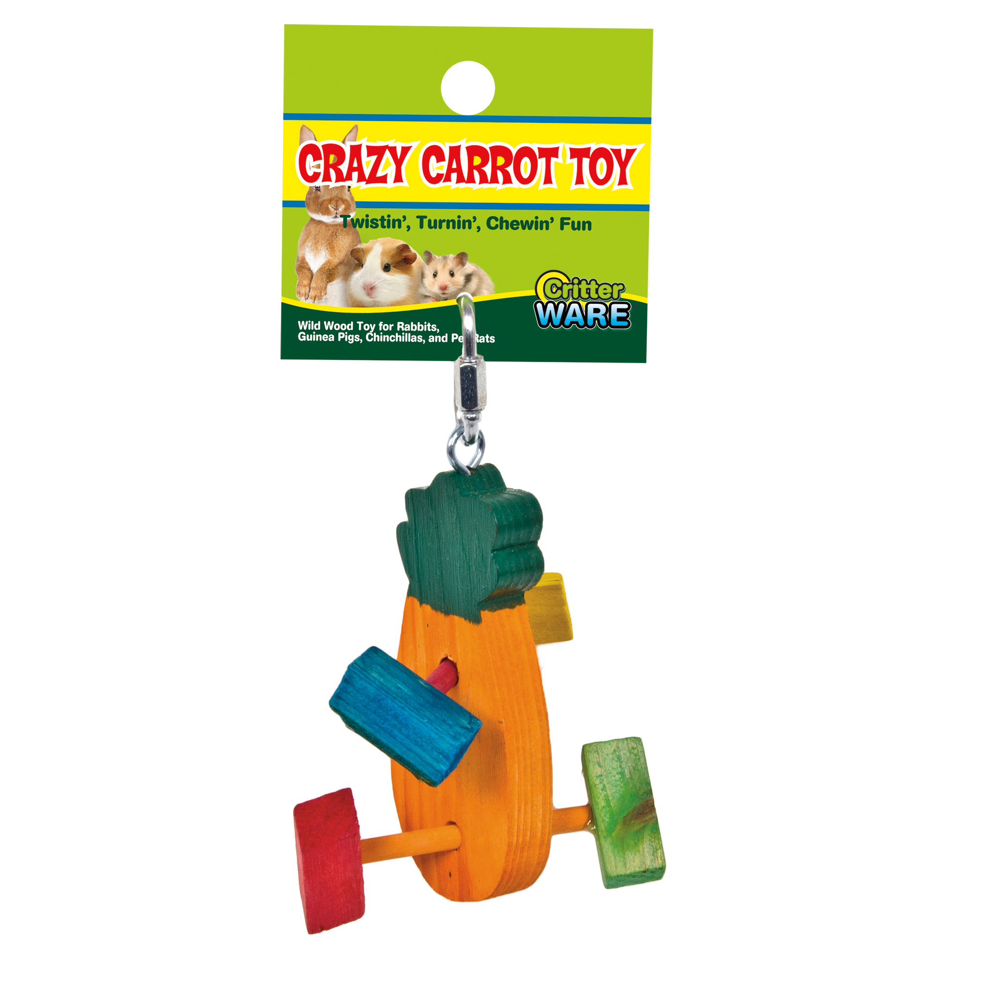 Ware Crazy Carrot, Wild Wood Toy for Small Pets