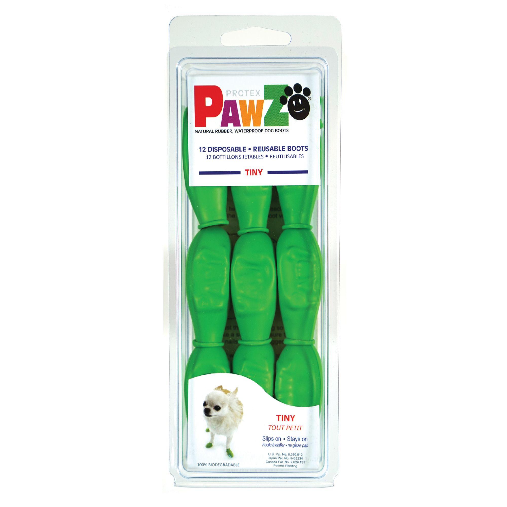 Pawz Waterproof Dog Boots, Apple Green, Tiny