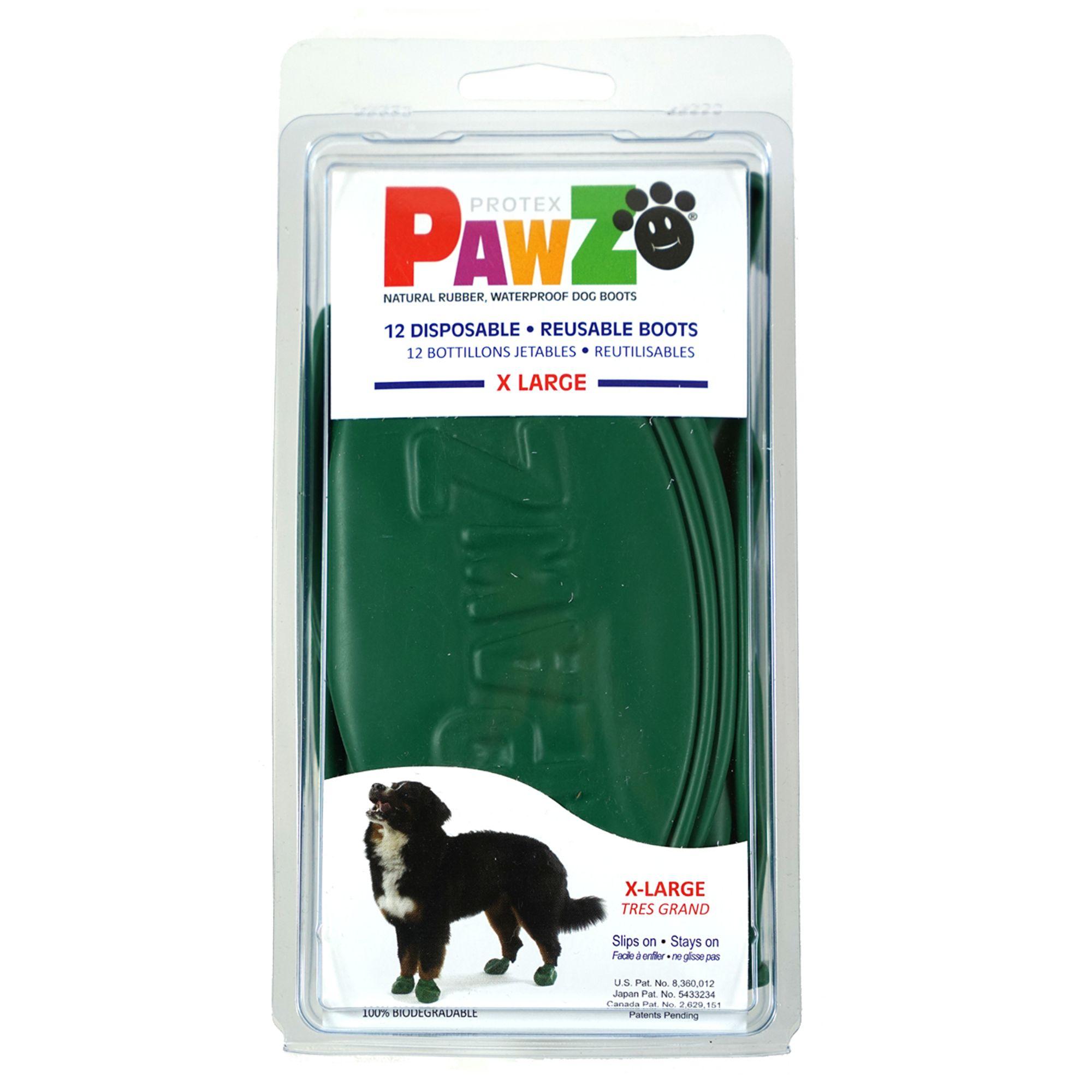 Pawz Waterproof Dog Boots, Blue, Medium