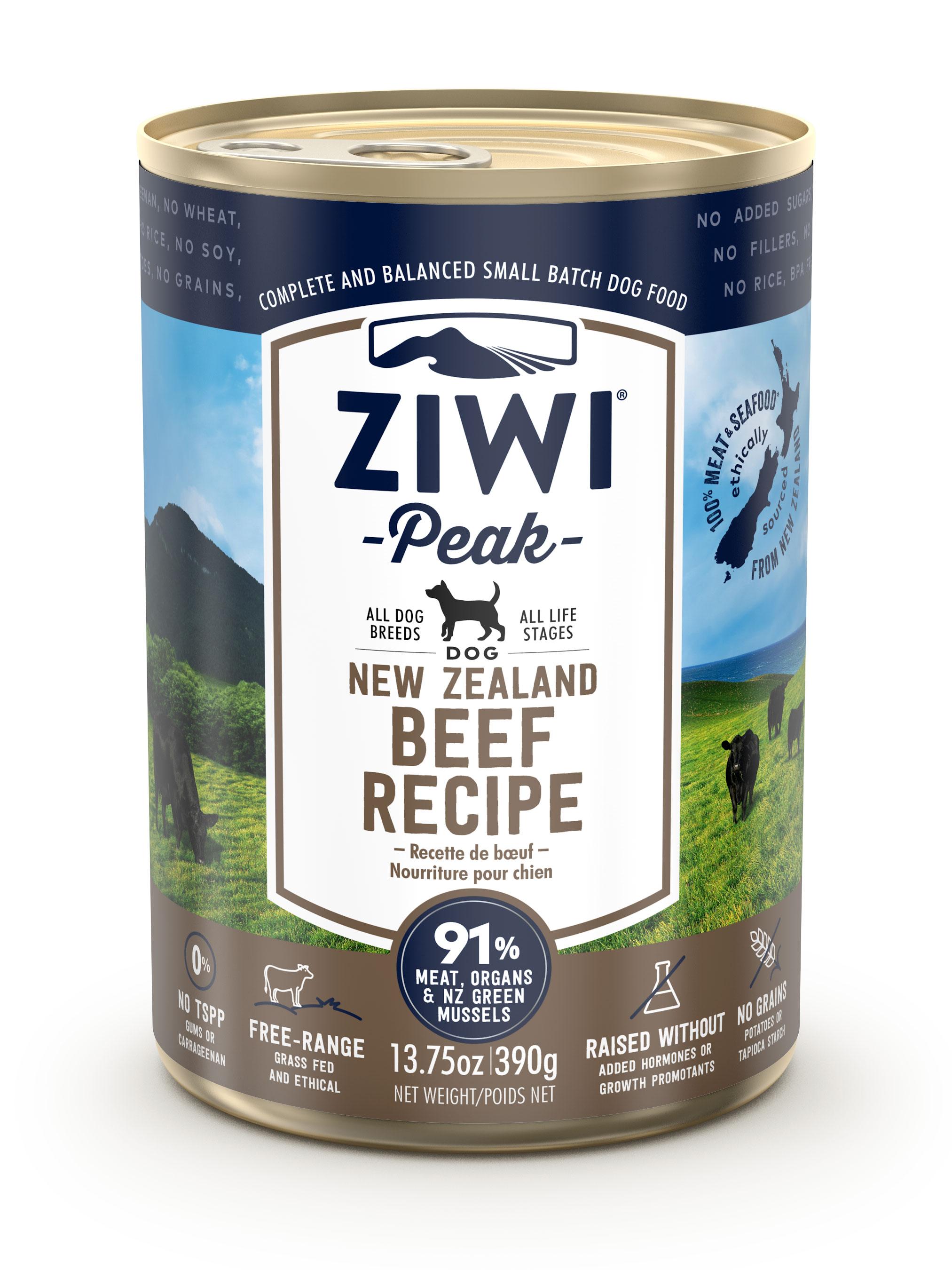 ZIWI Peak Canned Dog Food Beef Recipe, 13.75-oz|390-g