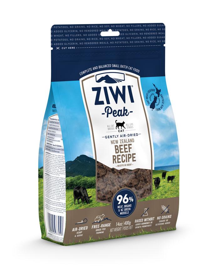 ZIWI Peak Air-Dried Cat Food Beef Recipe, 14-oz|400-g (Size: 14-oz|400-g) Image