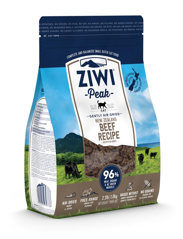 ZIWI Peak Air-Dried Cat Food Beef Recipe, 2.2-lb