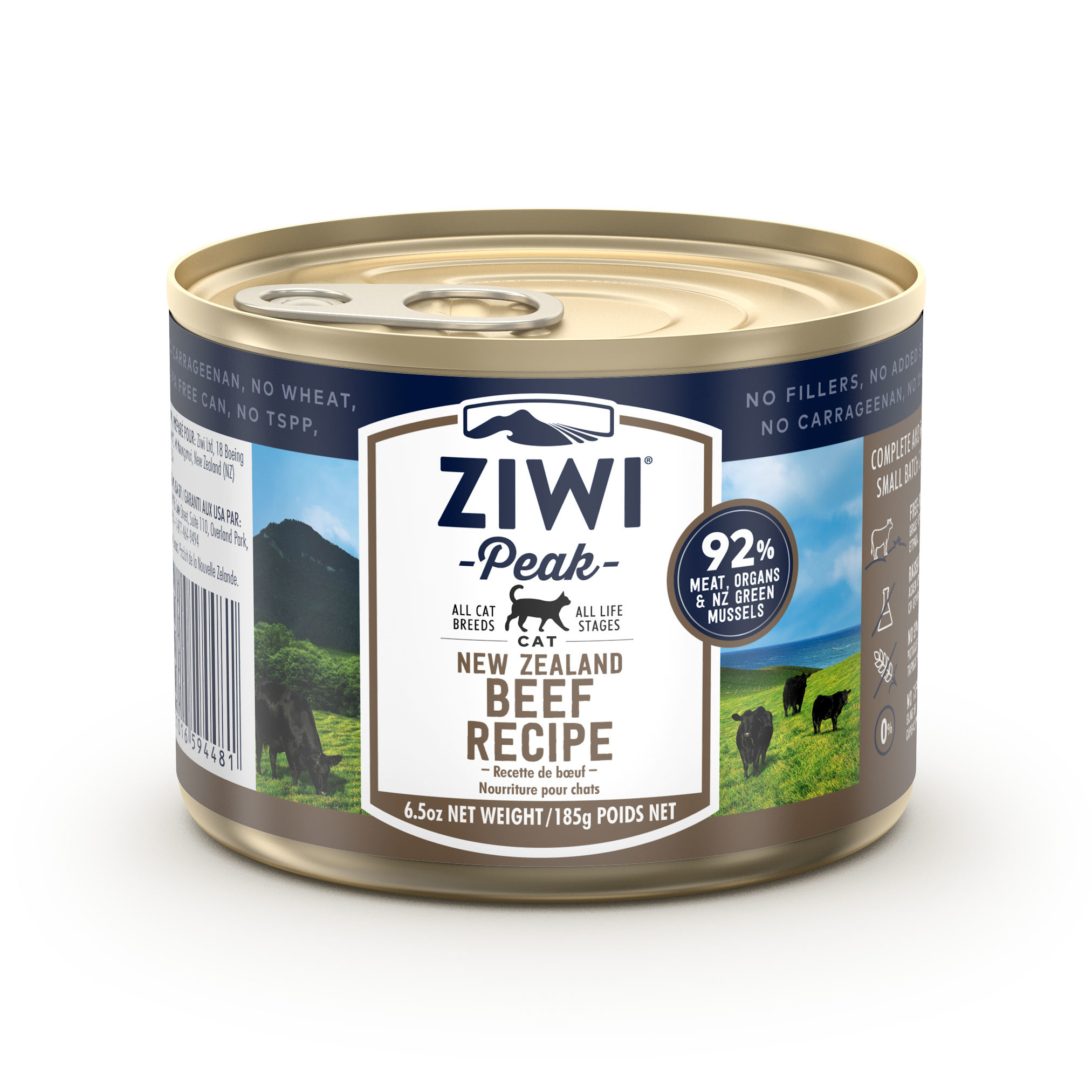 ZIWI Peak Canned Cat Food Beef Recipe, 6.5-oz|185-g (case of 12)