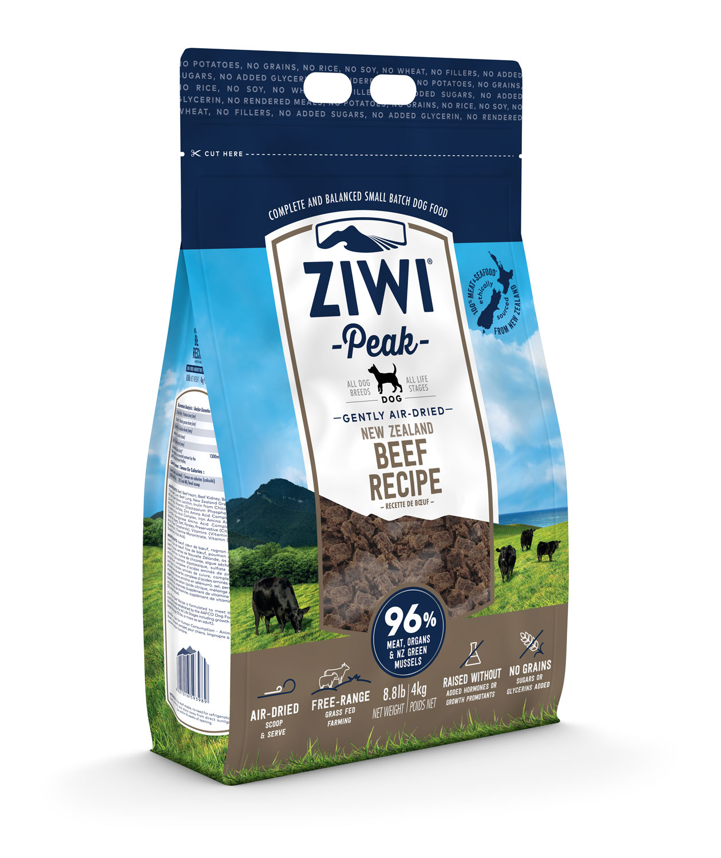 ZIWI Peak Air-Dried Dog Food Beef Recipe, 8.8-lb   4-kg