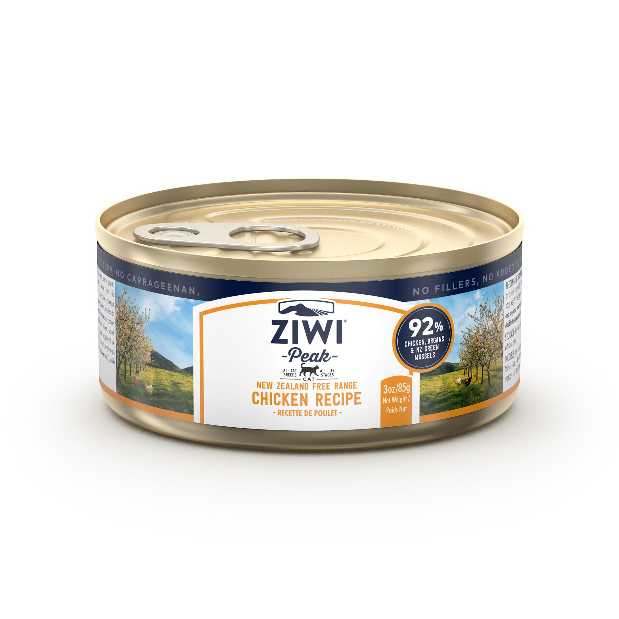 ZIWI Peak Canned Cat Food Chicken Recipe, 3-oz|85.2-g