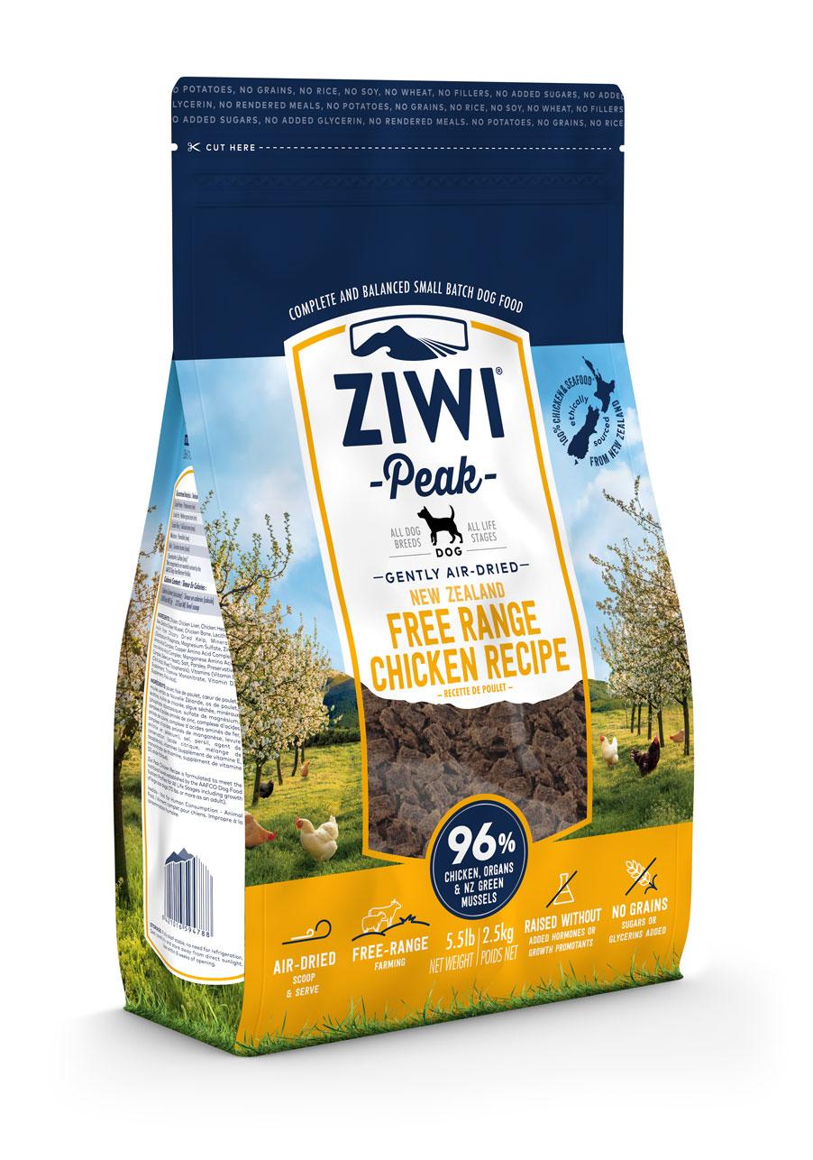 ZIWI Peak Air-Dried Dog Food Chicken Recipe, 5.5-lb|2.5-kg