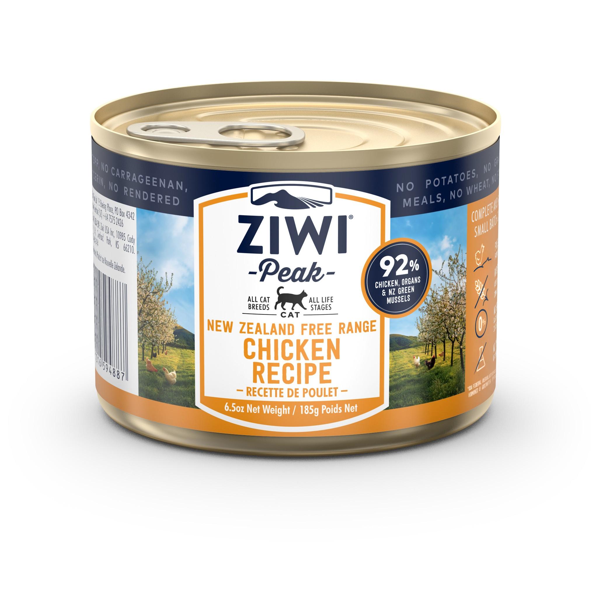 ZIWI Peak Canned Cat Food Chicken Recipe, 6.5-oz|185-g