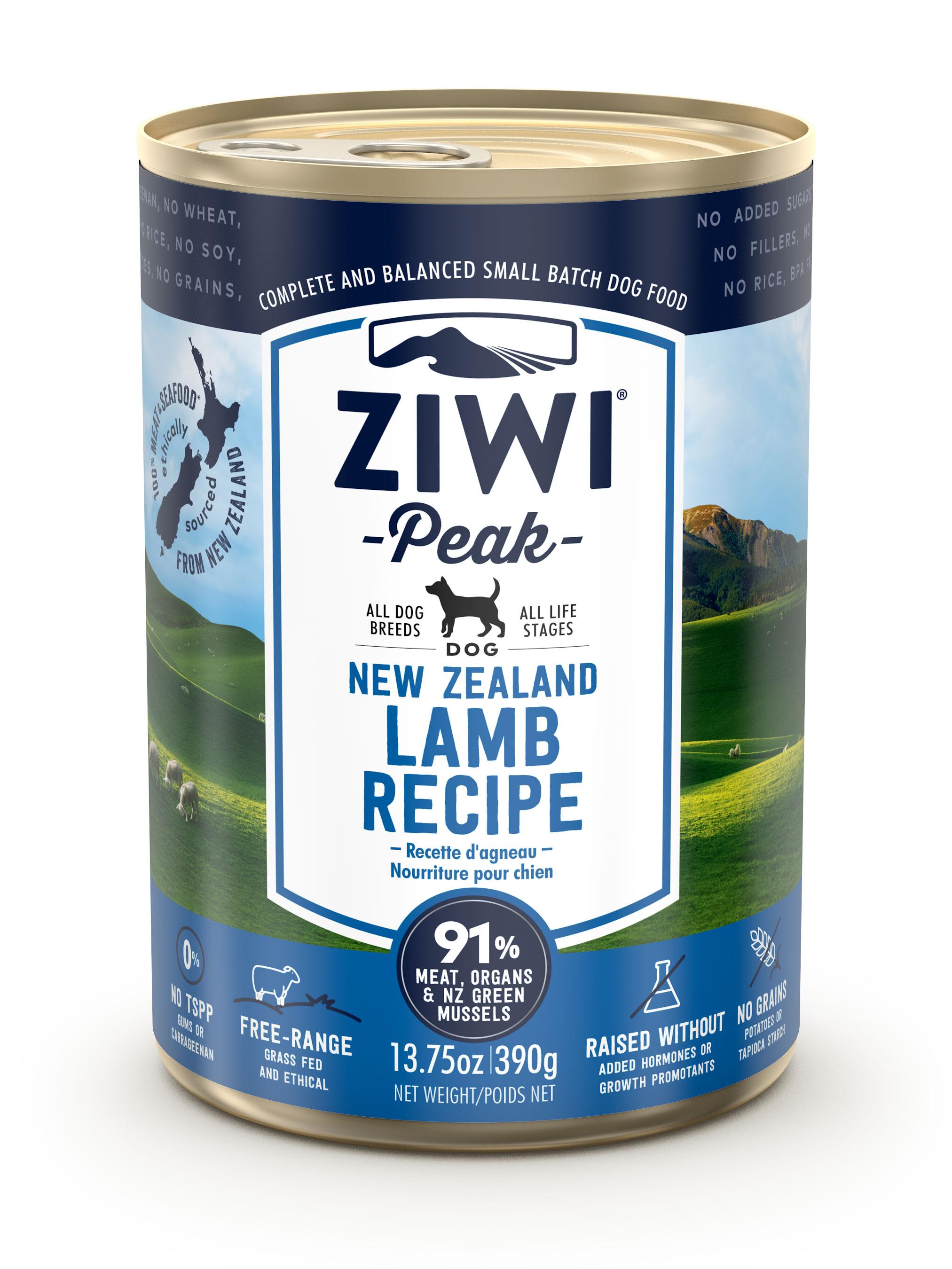 ZIWI Peak Canned Dog Food Lamb Recipe, 13.75-oz, case of 12