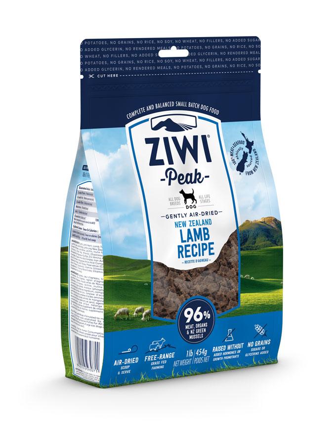ZIWI Peak Air-Dried Dog Food Lamb Recipe, 16-oz|454-g