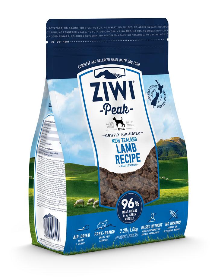 ZIWI Peak Air-Dried Dog Food Lamb Recipe, 2.2-lb