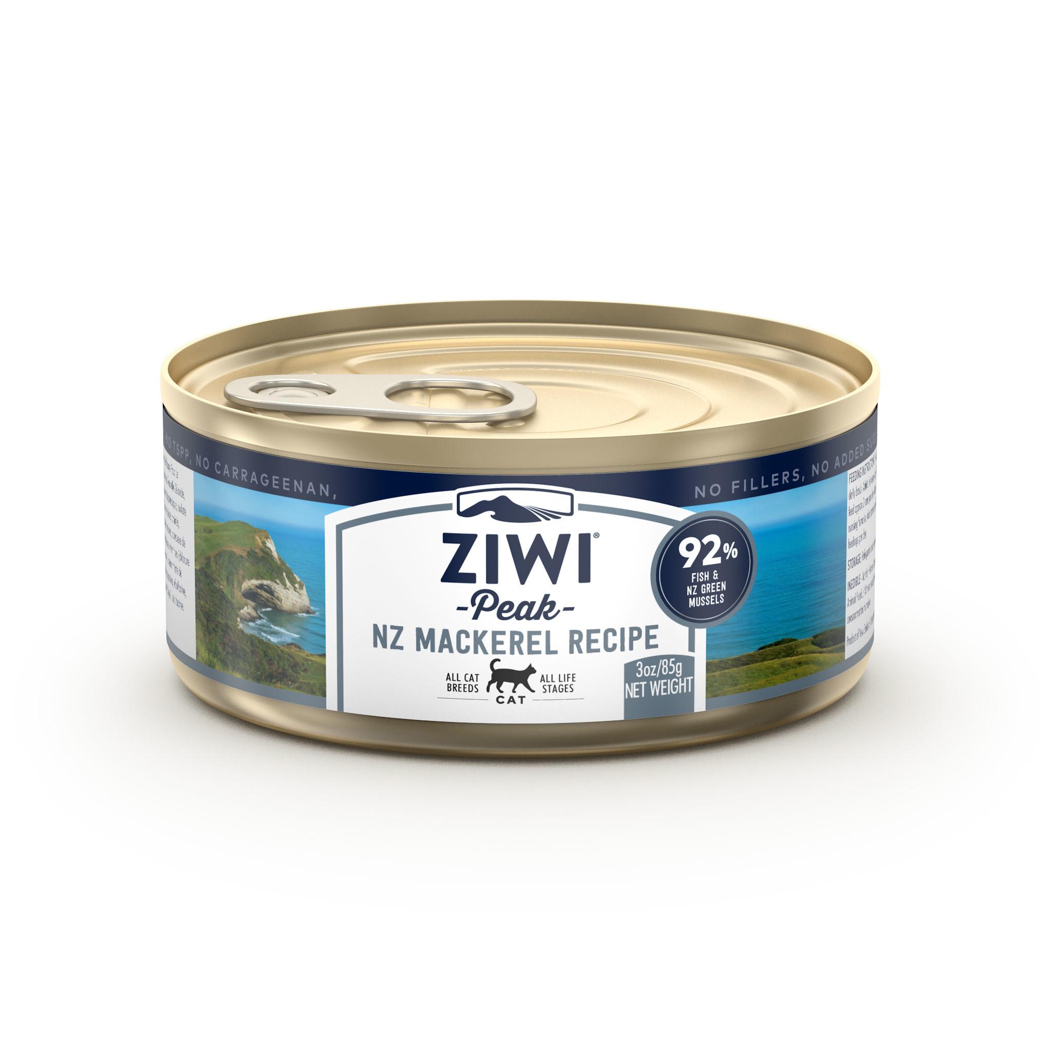 ZIWI Peak Canned Cat Food Mackerel Recipe, 3-oz|85.2-g